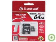 Карта памяти Transcend microSDXC 64GB Class 10 UHS-I Premium